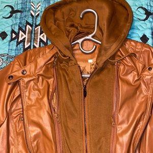 Woman's plus size faux leather jacket 3XL